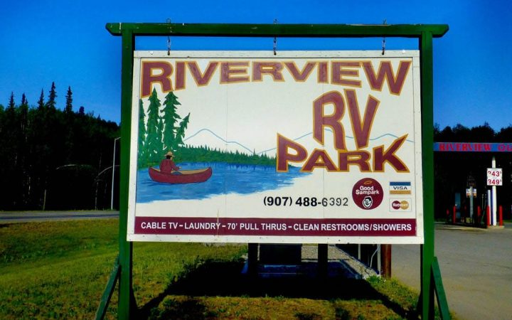 Sign of Riverview RV Park