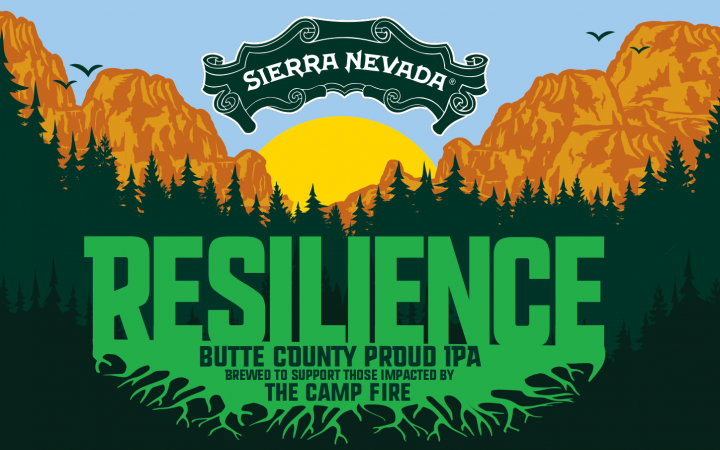 Resilience IPA beer label