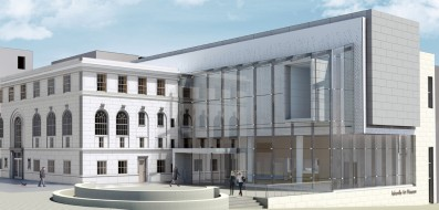 Artist rendering of all new expansion at Asheville Art Museum