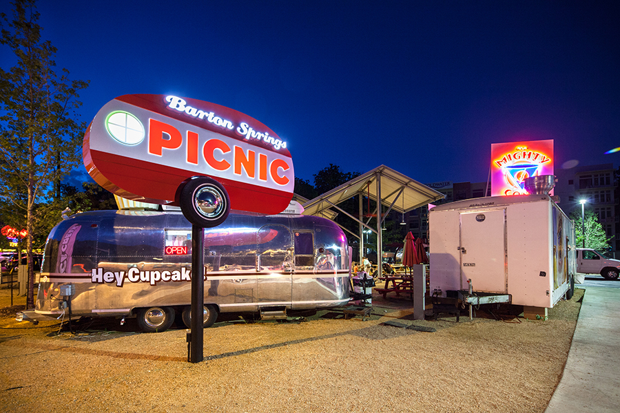 Barton Springs Picnic is Austin is a food truck park with a wide selection of tasty choices