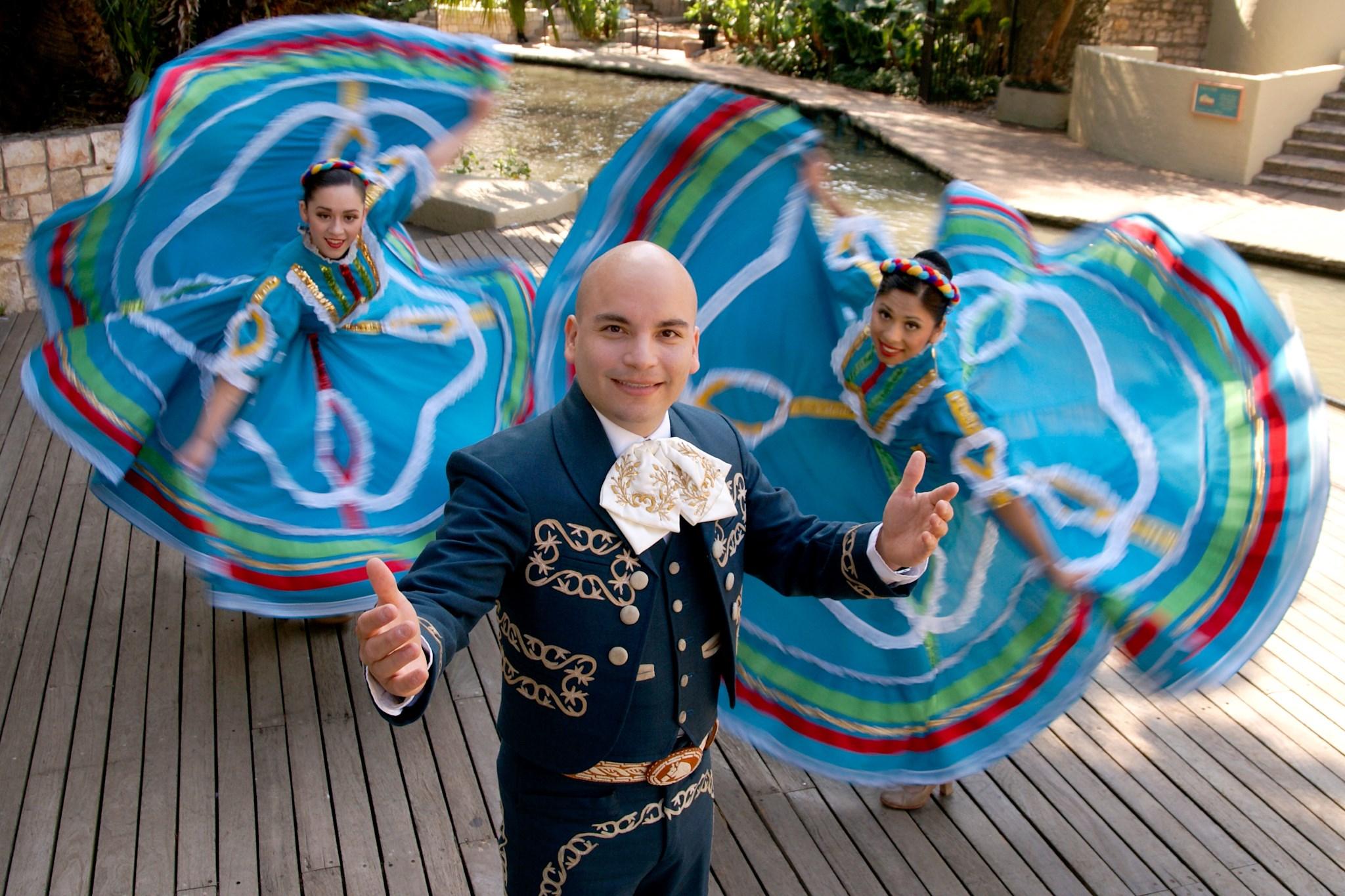 Dancers celebrate a Mexican festival in San Antonio.