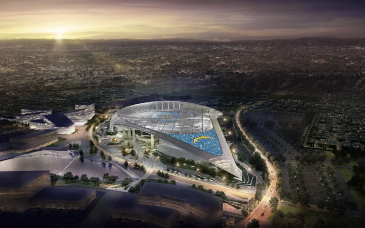 Artist rendering of the all-new Los Angeles Stadium