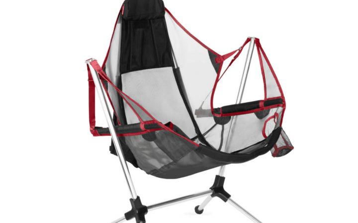 marketing photo of the red stargazed luxury chair