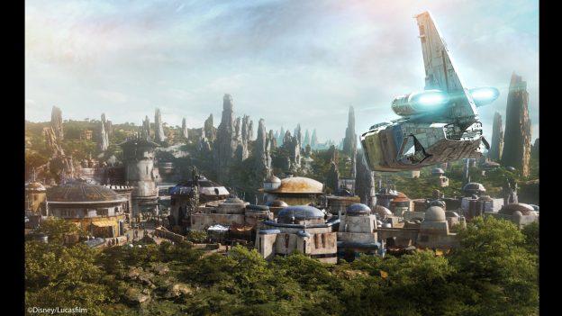 Artistic concept rendering of new Galaxy's Edge land in Disneyland in Anaheim, CA