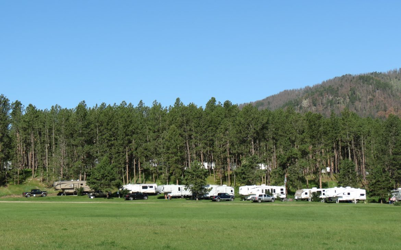 RVs parked at Rafter J Bar Resort during daytime