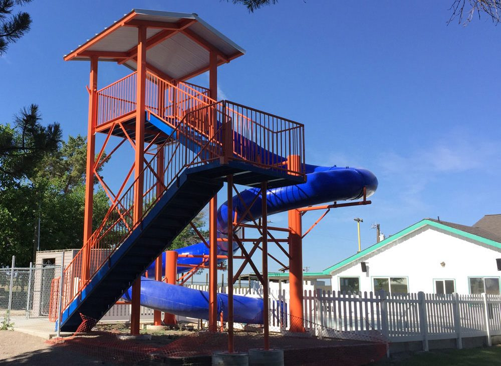 Large Slide playground at Anderson Camp