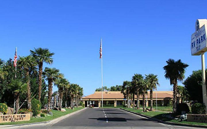 Sunny day drive up to RV Resort in Utah