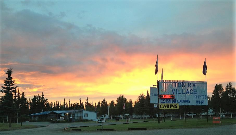 Sunset over the Tok RV Park
