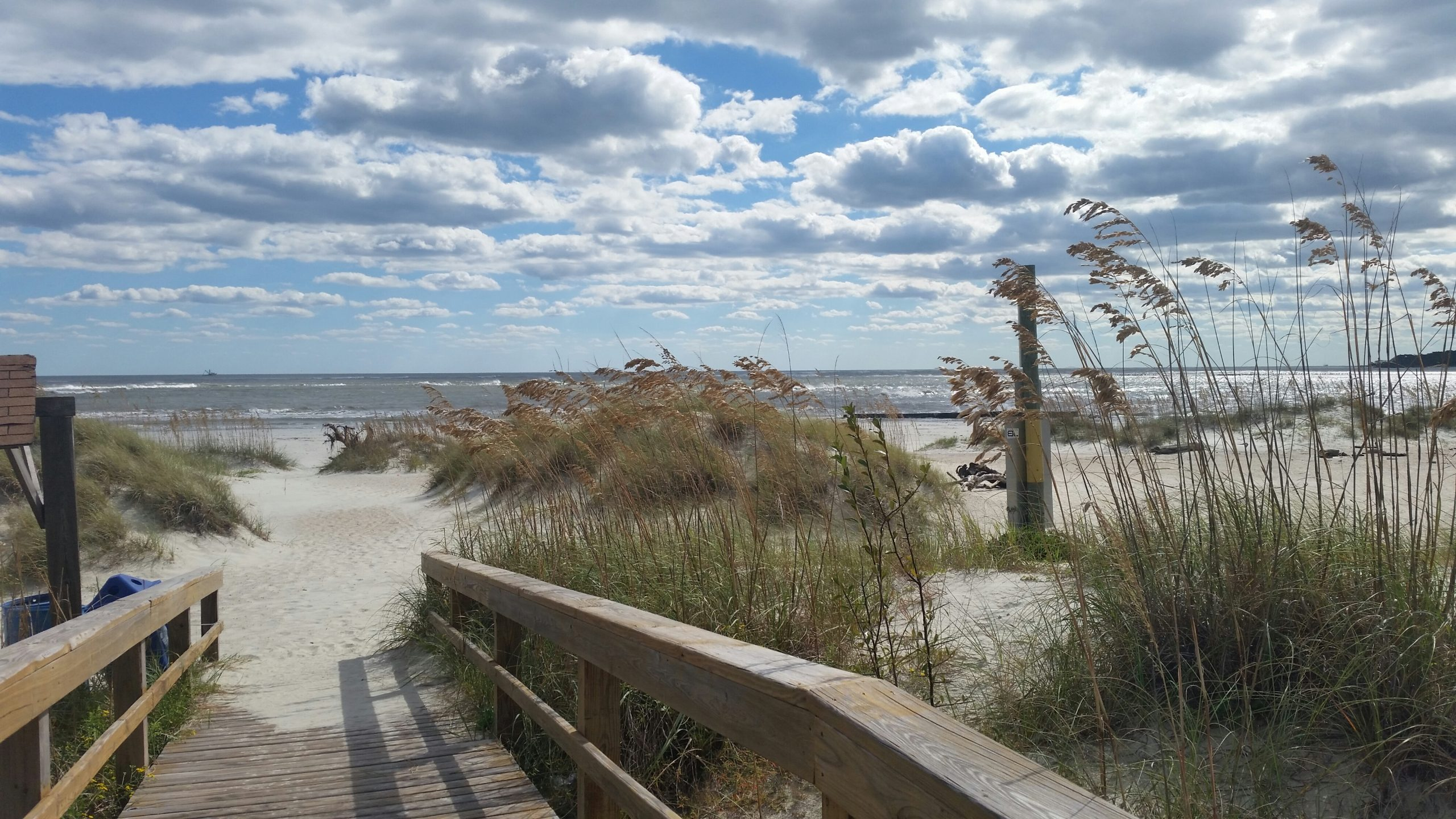 Photo of walkway on beach at Rivers End Campground in Georgia
