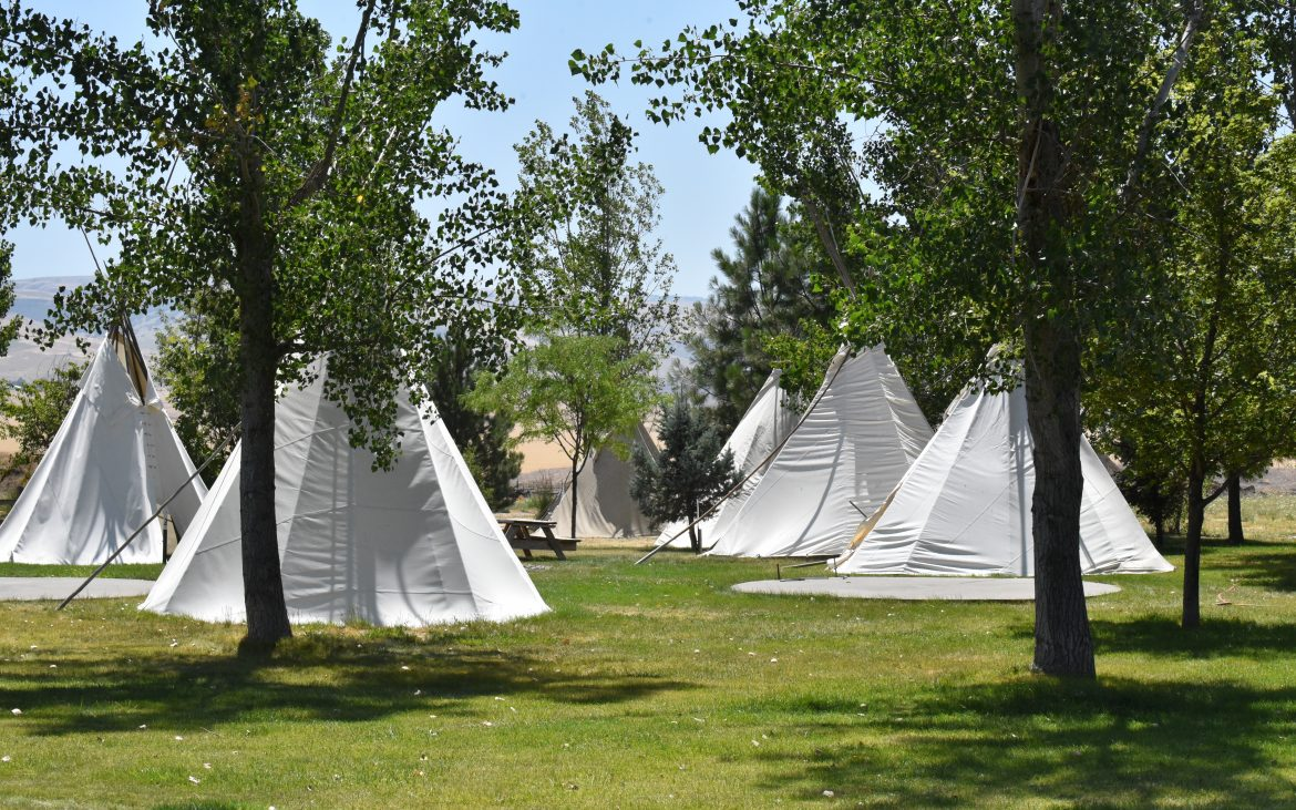 Tipi village at Wildhorse RV Resort