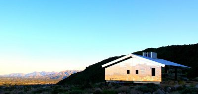 Mirage mirrored house by Doug Aitken in mountains of Palm Springs
