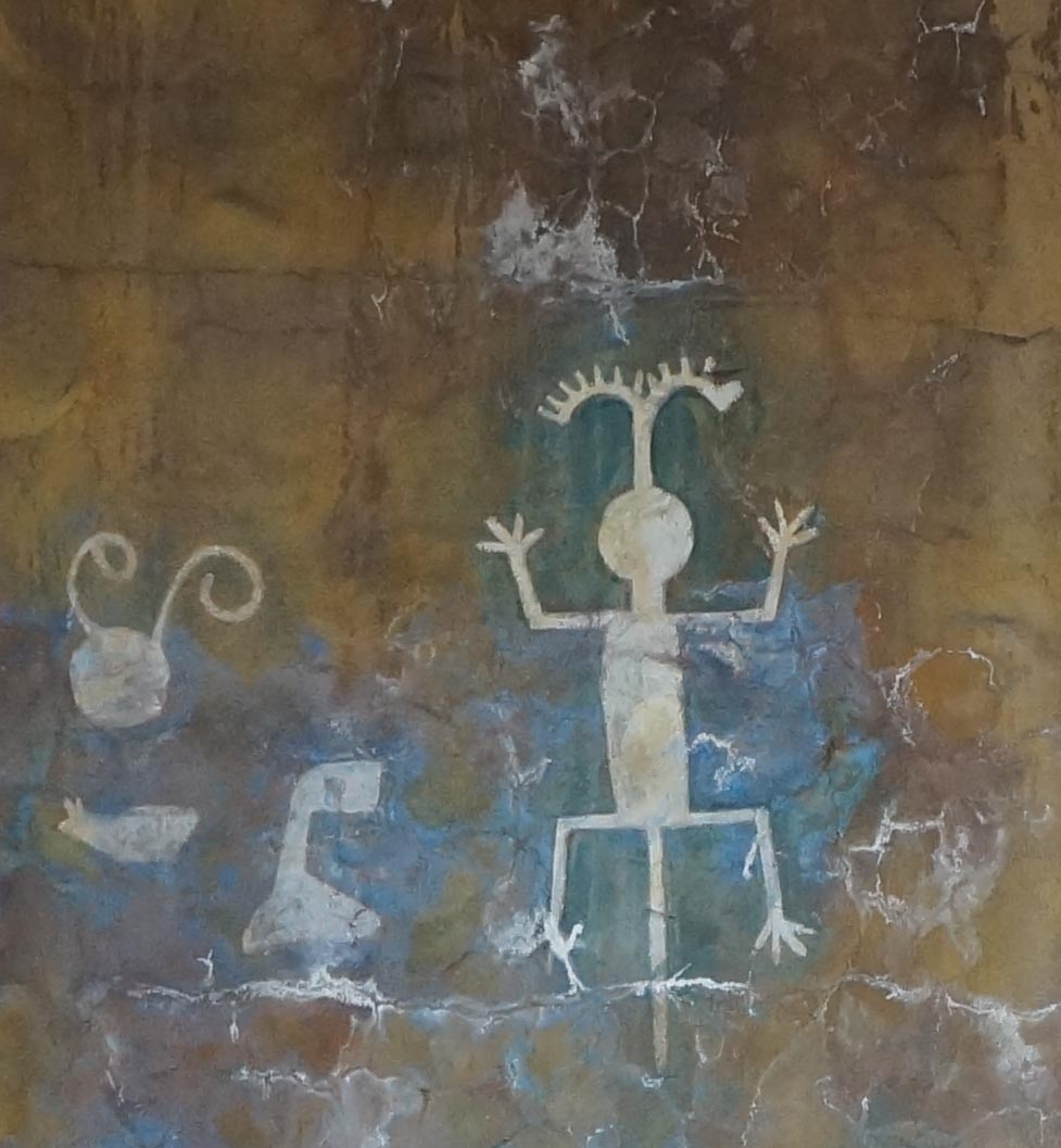 Copies of petroglyphs in the Grand Canyon's Desert View Tower