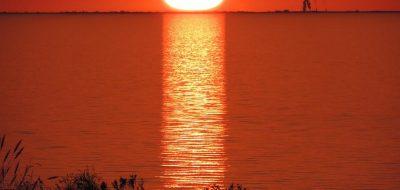 Sunset at Lake Okeechobee in Florida