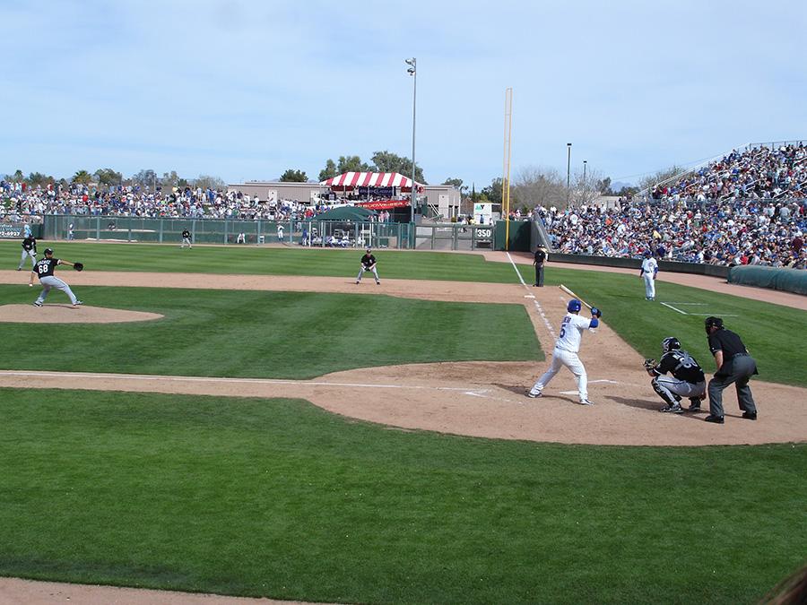 Cactus League play in Arizona