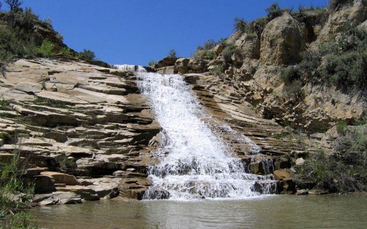 beautiful waterfall in the desert