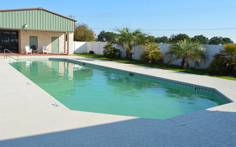 Non decorated RV Park community pool