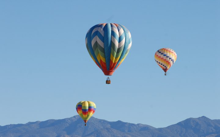 Air Balloons in the sky for the Pahrump Balloon Festival