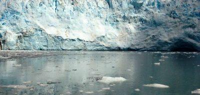 Huge glacier in the Prince William Sound