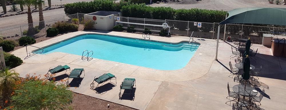 Clean public pool at RV Resort