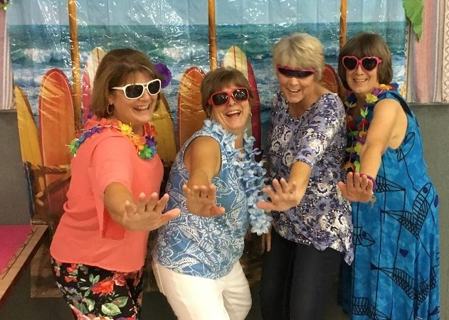 Middle-Aged women partying at RV Resort