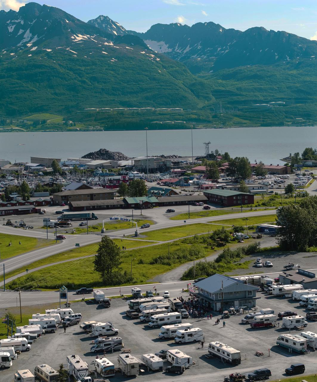 Overhead View of Eagle's Rest RV Park