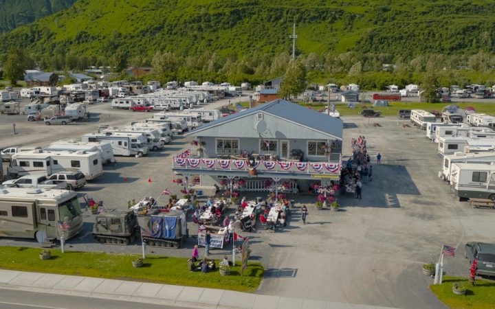 Large clubhouse of RV Park