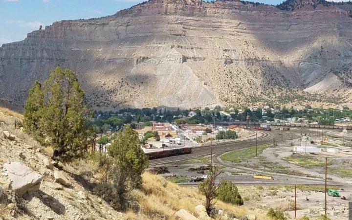 View of utah desert from Castle Gate RV Park