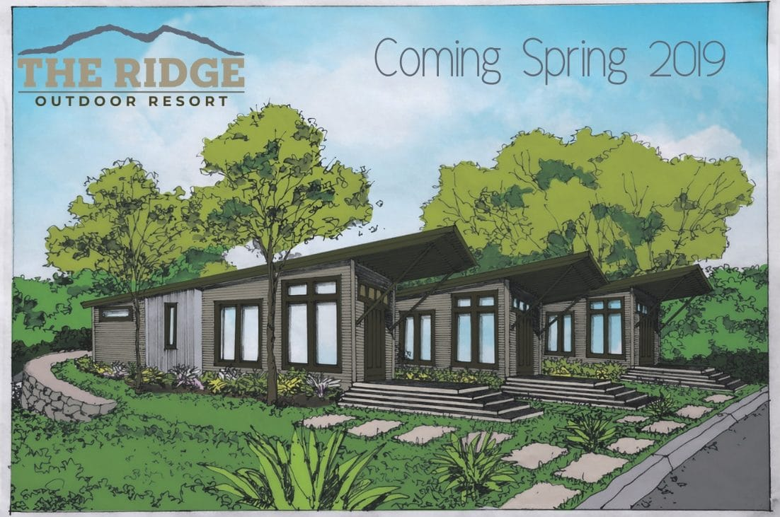 Artist rendering of new outdoor resort addition to RV Park