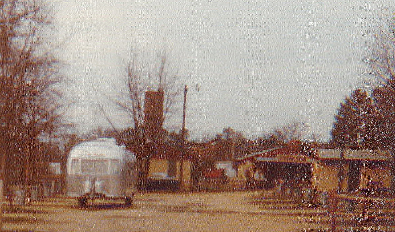 An Airstream trail at Anvil during the 1960s.