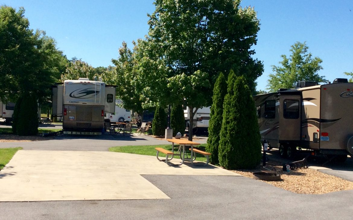 Empty paved RV spot