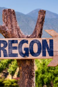Oregonwinery direction sign