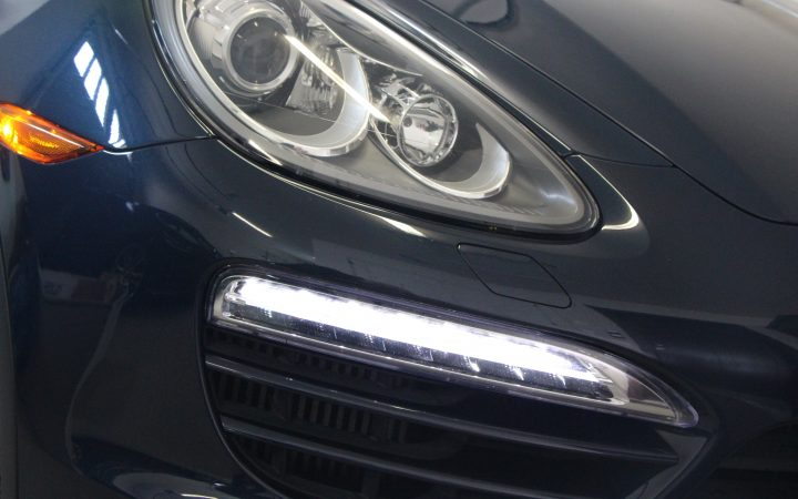 Daytime running lights installed below the headlight.