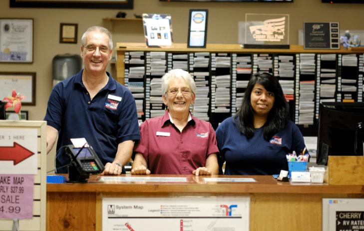 Smiling staff at the front desk