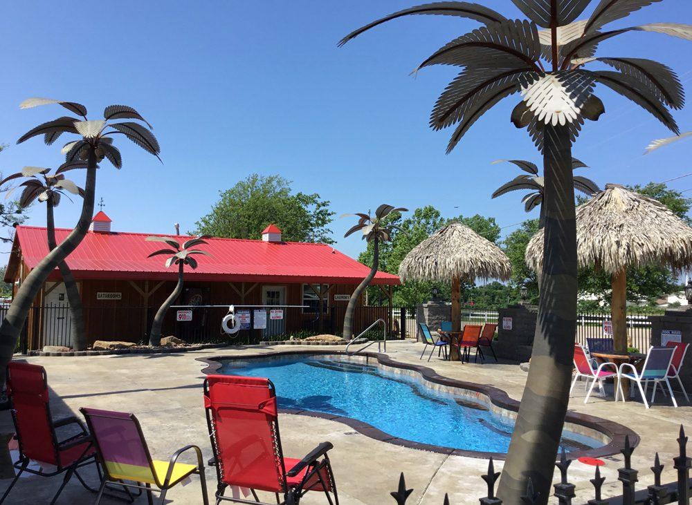 Resort quality clear community pool