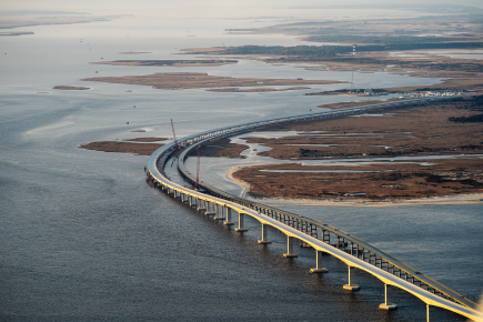 The new bridge over the Oregon Inlet is 2.8 miles long.