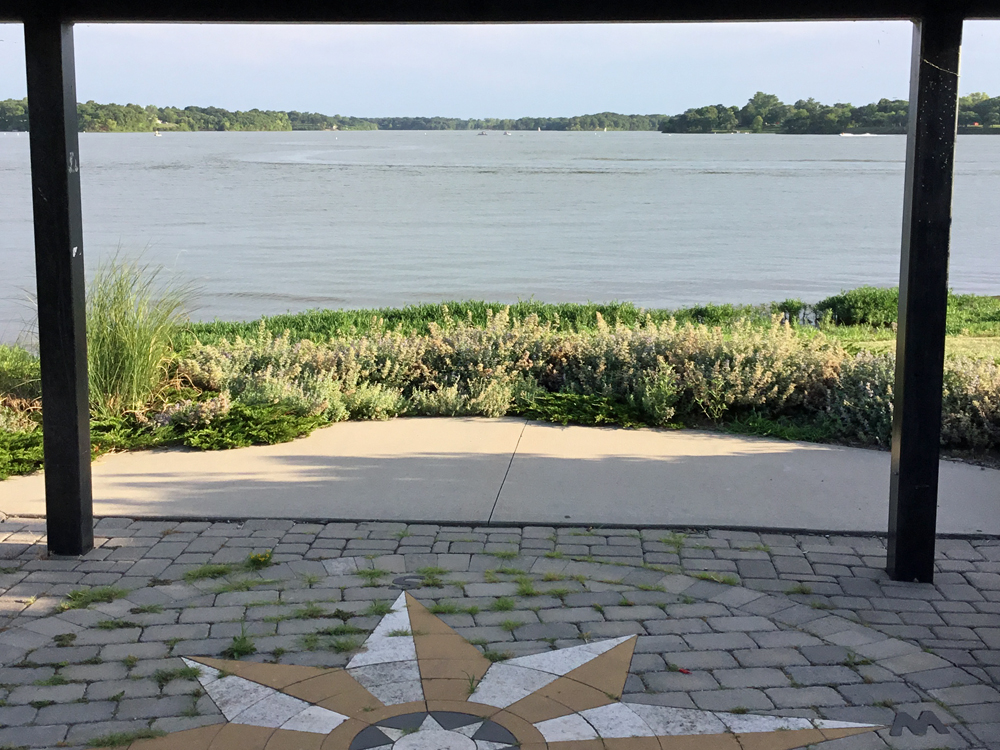 Patio looking out at large lake