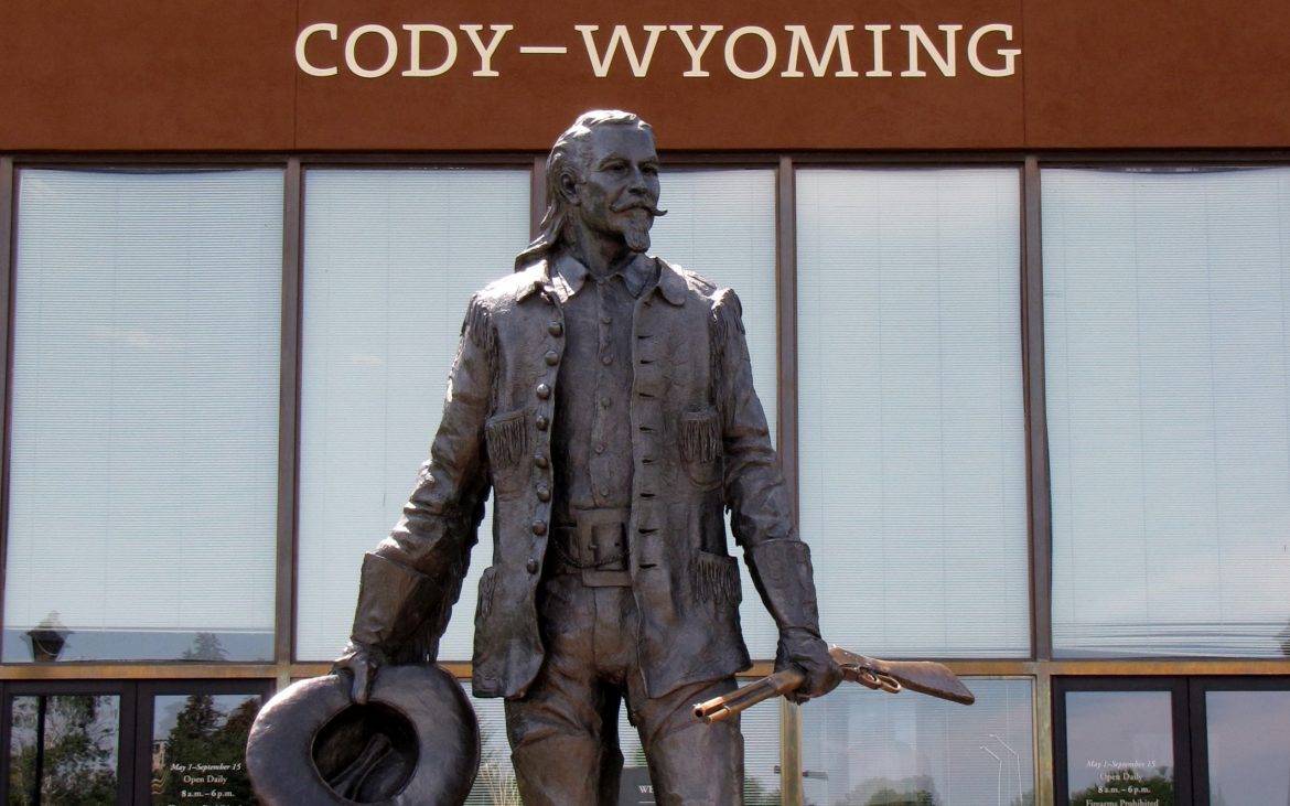 Historical statue in Cody/Yellowstone
