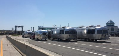 Air stream caravan on highway