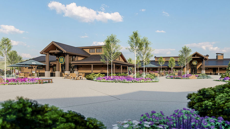 State-of-the-art buildings in River Run RV Resort.