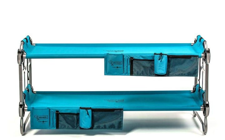 Teal double stacked disc-o-bed
