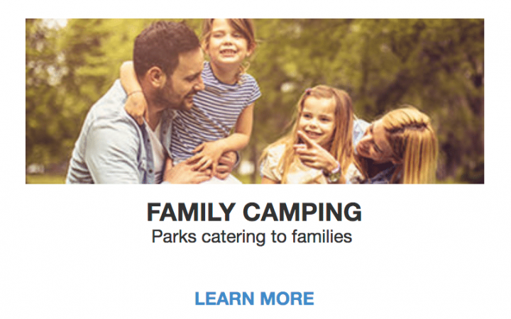 Family camping image from Good Sam website