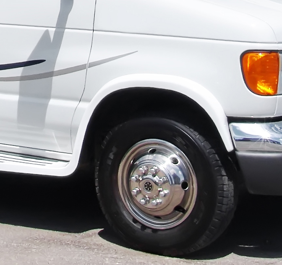Class C motorhome front-right tire.