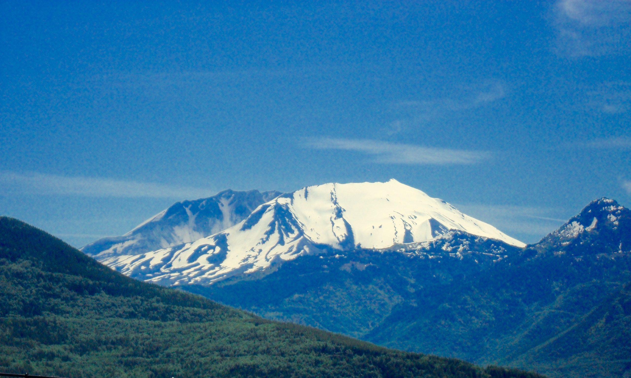 Snowcapped Mt. St. Helens