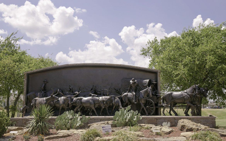Iron horse statues