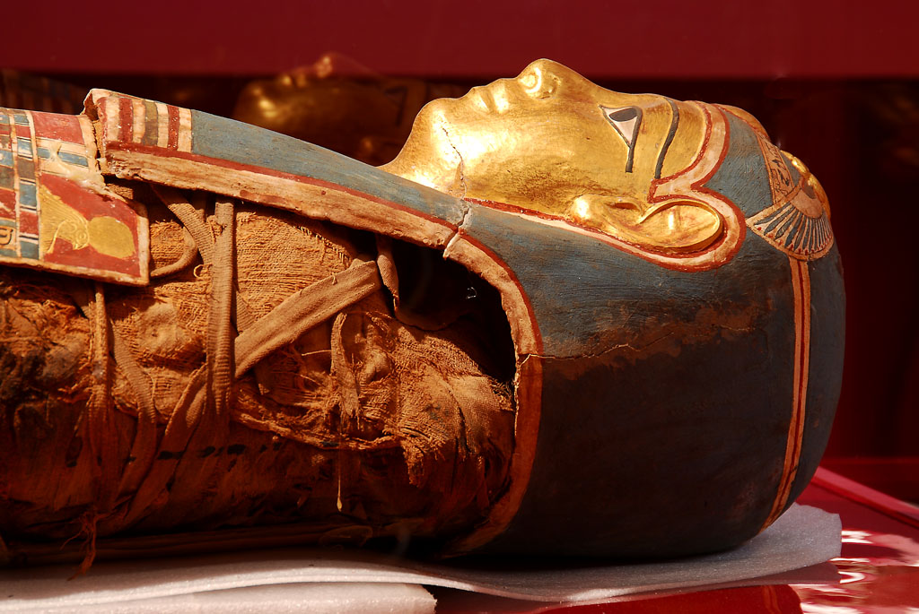 Golden ancient mummy