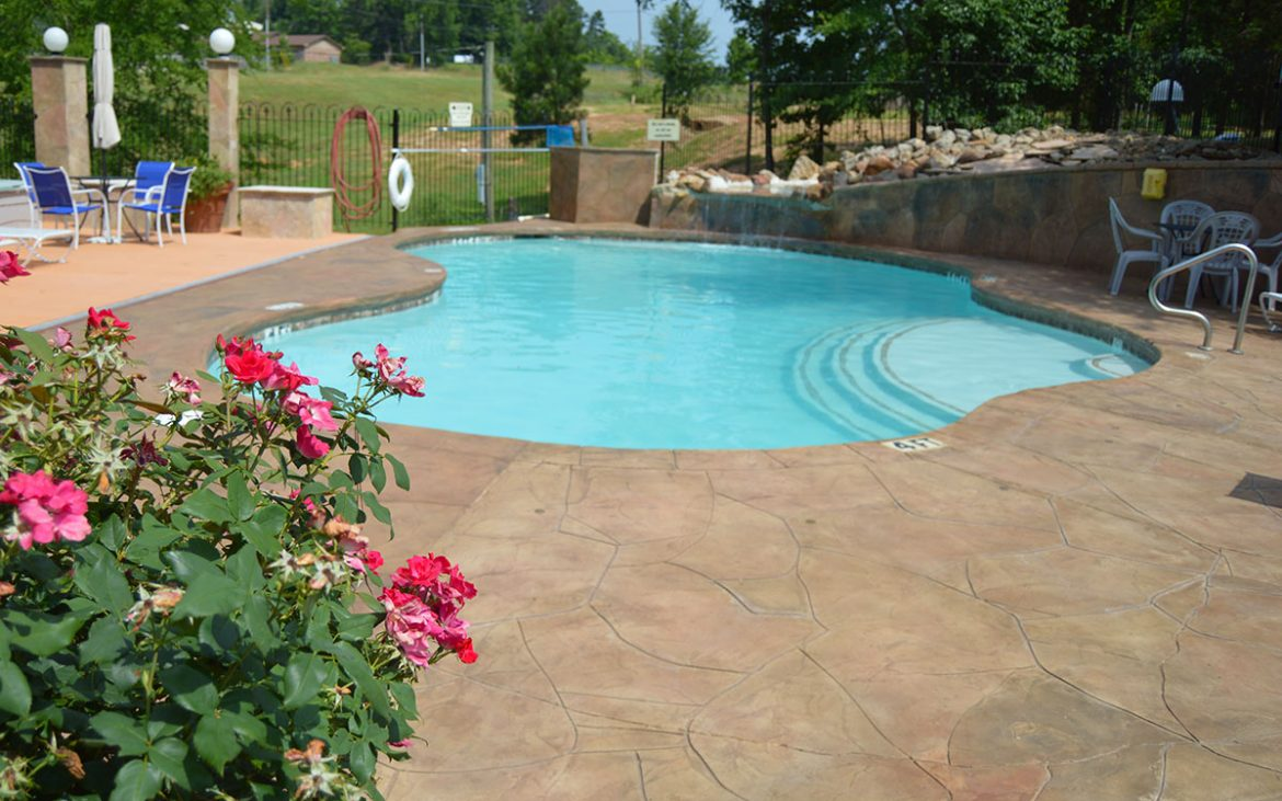 Clear resort style community pool