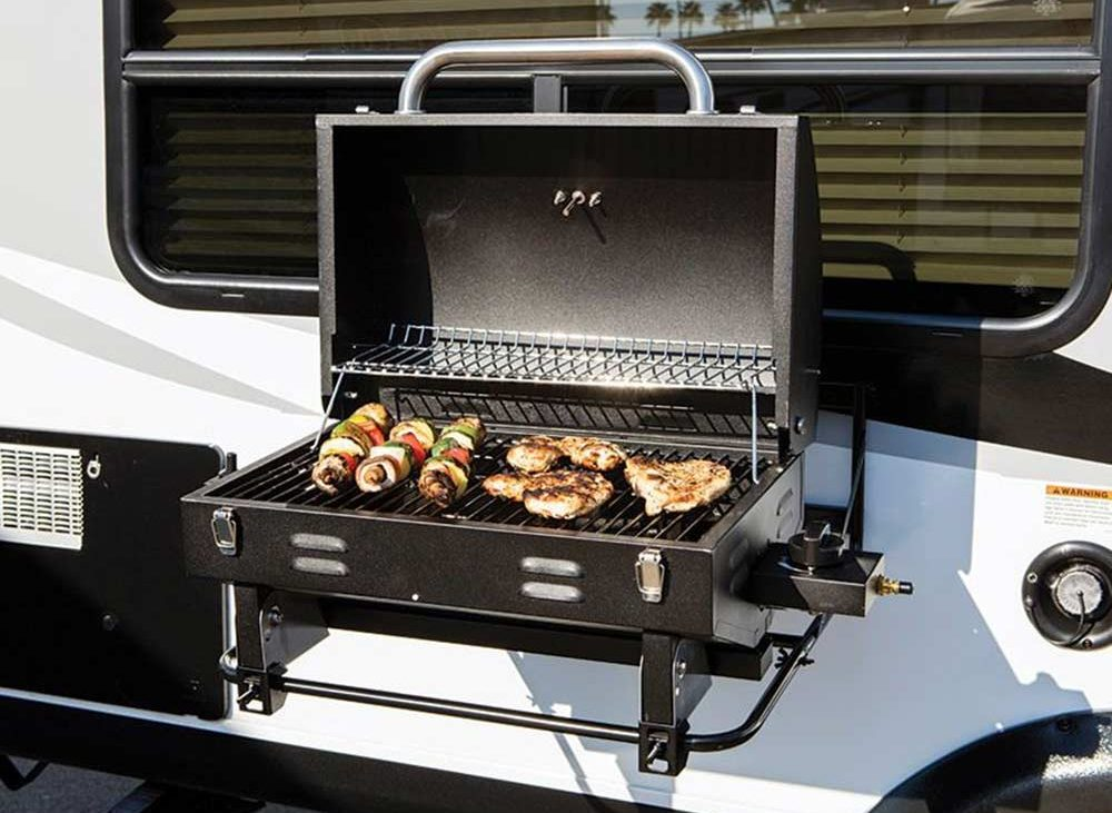 BBQ attached to side of RV