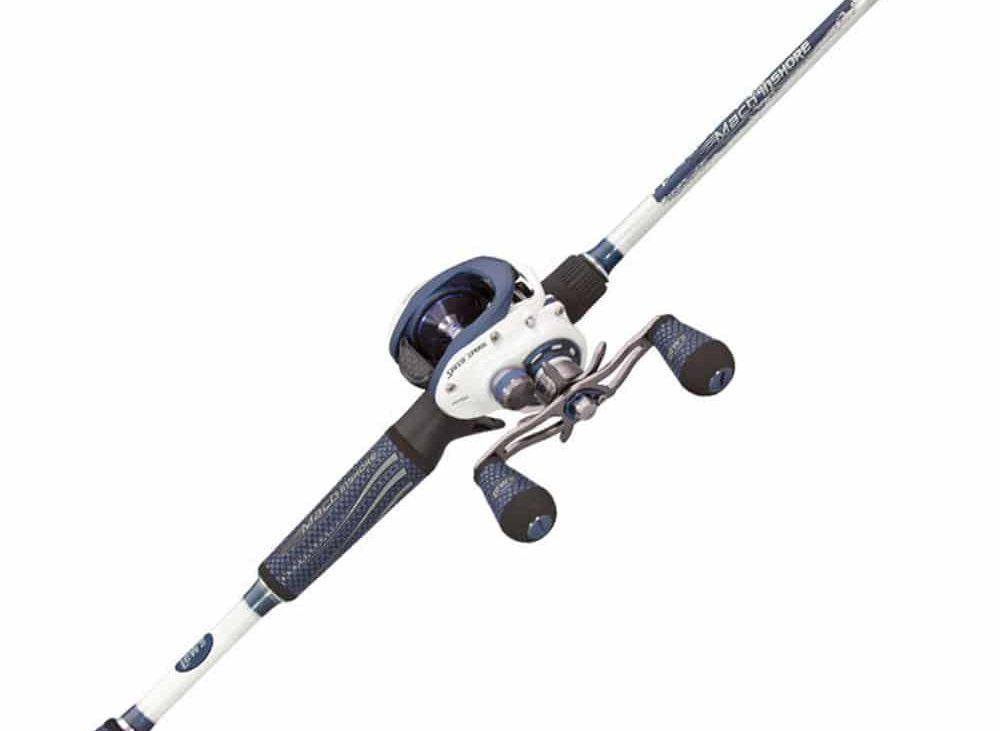 Close up of fishing rod spool