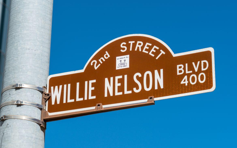 Willie Nelson Blvd Street Sign