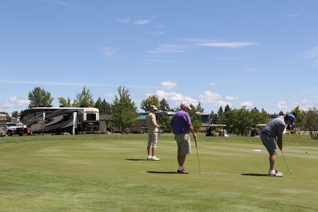 Men playing a round of golf